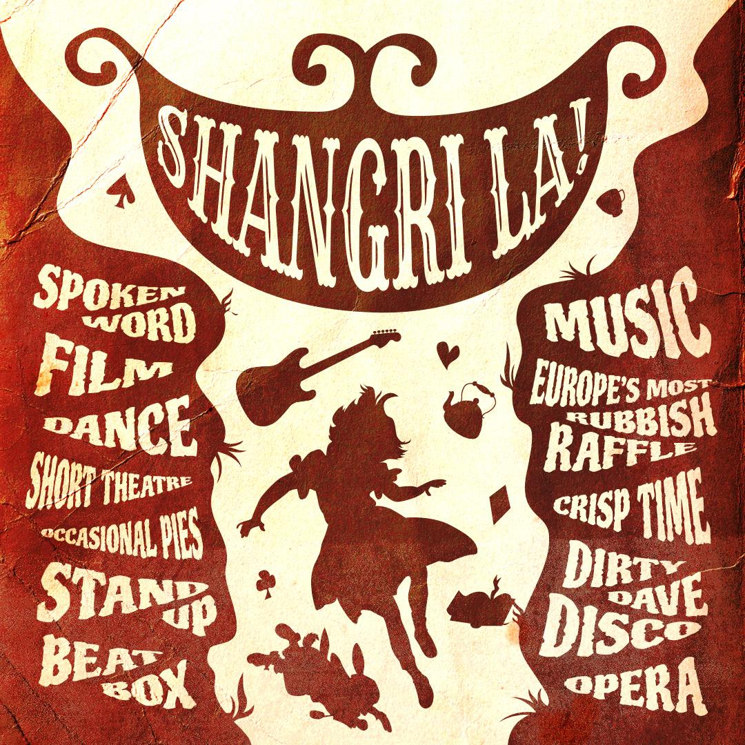 Shangri La! alternative community cabaret night Logo