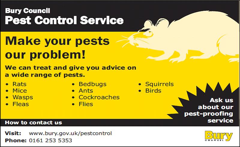 Bury Council Pest Control Services Logo